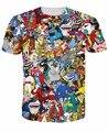 Nuevos hombres de moda Extreme 90 s del cabrito dibujos animados Collage de dibujos animados camisetas Harajuku camisetas Casual 3D camisetas Hip Hop hombre superior Tee