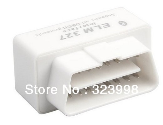 50pcs/LOT  super mini elm327 bluetooth ELM 327 Interface OBD2 / OBD II Auto Car Diagnostic Scanner OBDII Freeshipping