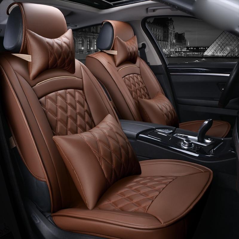 3D автомобиль Чехол для сиденья спортивный стиль старший кожа полностью окружили автомобиль подушки сиденья,для всех внутренних седан аксессуары