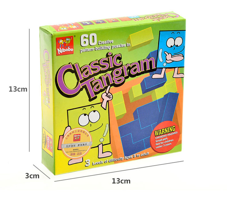 Classic Tangram Puzzle Barn IQ Mind Brain Teaser - Puslespill - Bilde 2