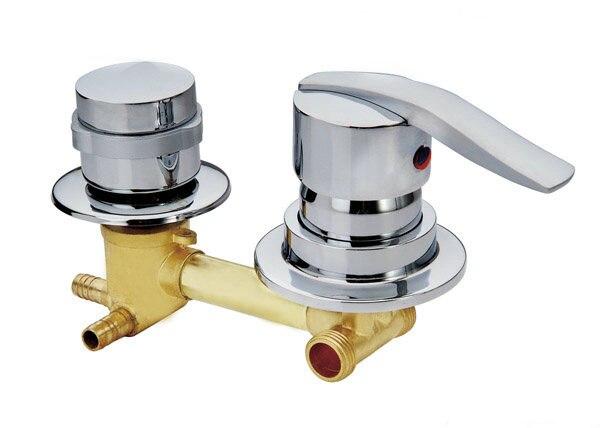 Anpassen 2/3/4/5 Möglichkeiten wasser outlet messing duscharmatur, 2 style schraube oder intubation Kupfer duschkabine dusche mischventil