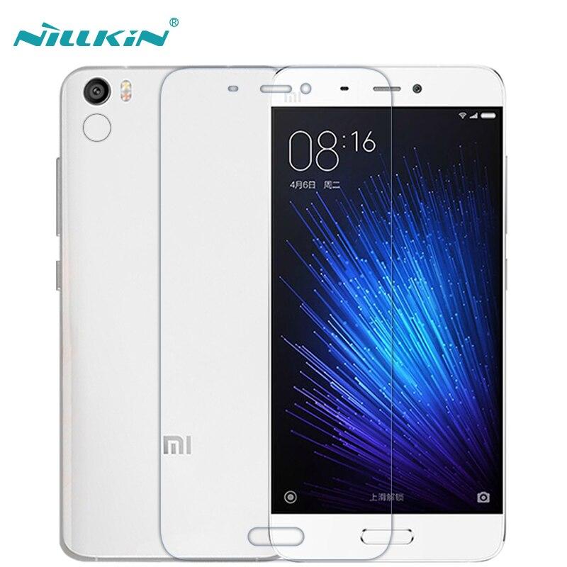 imágenes para Nillkin pe + 9 h 2.5d ojos cuidado anti-brust vidrio templado protector de pantalla para xiaomi mi5 para xiaomi mi5 pro vidrio (5.15 pulgadas)