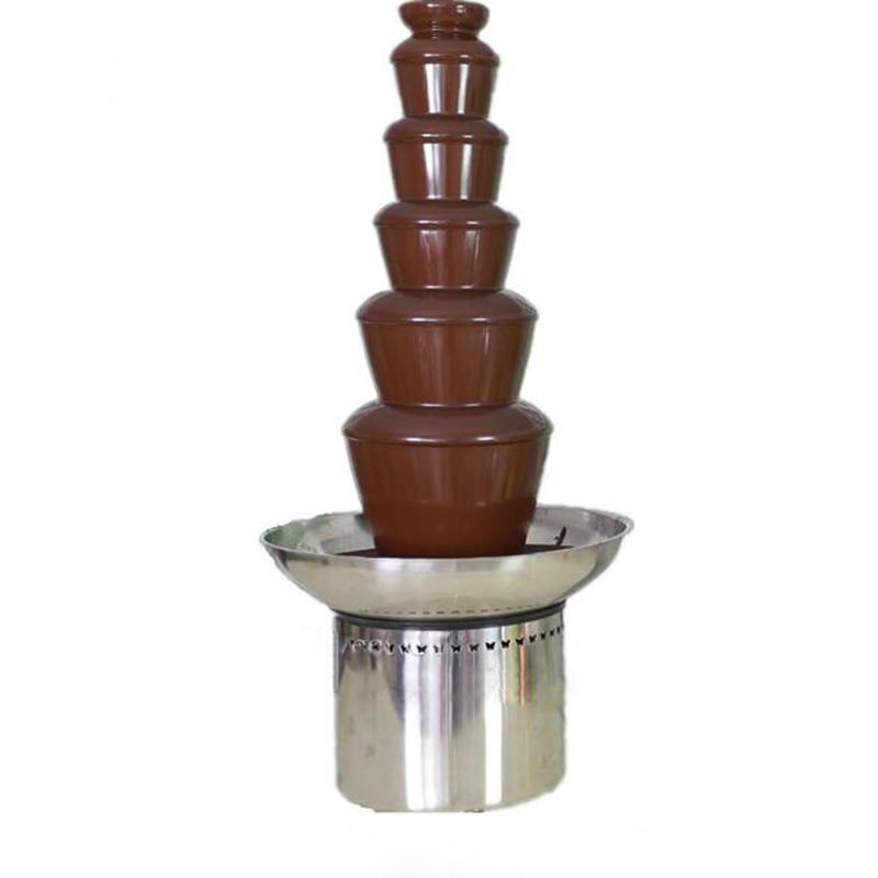 6-layer Chocolate fountain machine Waterfall Commercial chocolate machine chocolate fondue DIY machine 110/220V 3 tiers chocolate fountain fondue event wedding for children birthday home fountains christmas waterfall machine