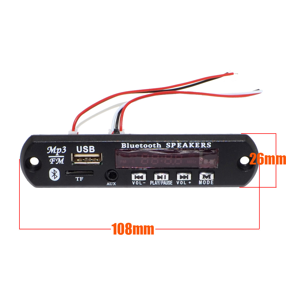 New 5v 7 12v Car Bluetooth Wireless Mp3 Decoder Board Audio Module 13w Amplifier Circuit Using Ta8200ah Aux Usb Tf Radio Free Shipping With Track Number 12003151 In From Consumer