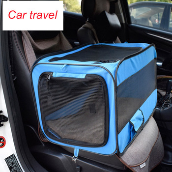Foldable Pet Carrier Tent With Mat 6