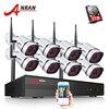 3TB HDD 8CH Surveillance CCTV NVR System 8pcs 1080P HD Onvfi H 264 25fps Vandalproof Dome