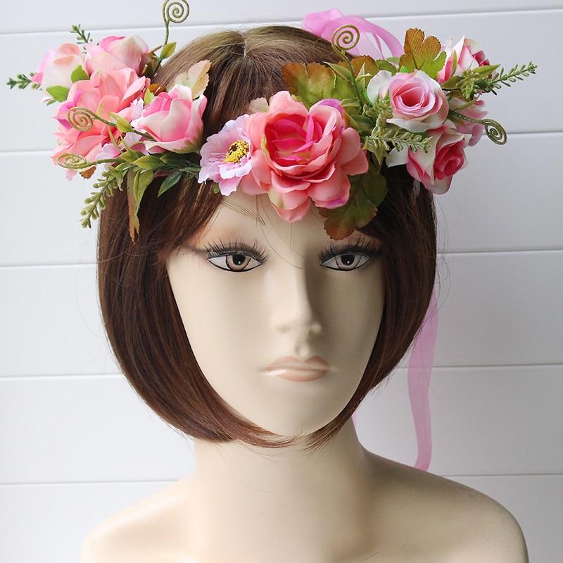 Simülasyon penny çiçek çelenk bandı kadınlar Rattan simülasyon - Elbise aksesuarları - Fotoğraf 5