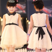 2014 New Spring Girls Dress Princess Wedding Skirt Dress Retail Children Clothes Free Shipping