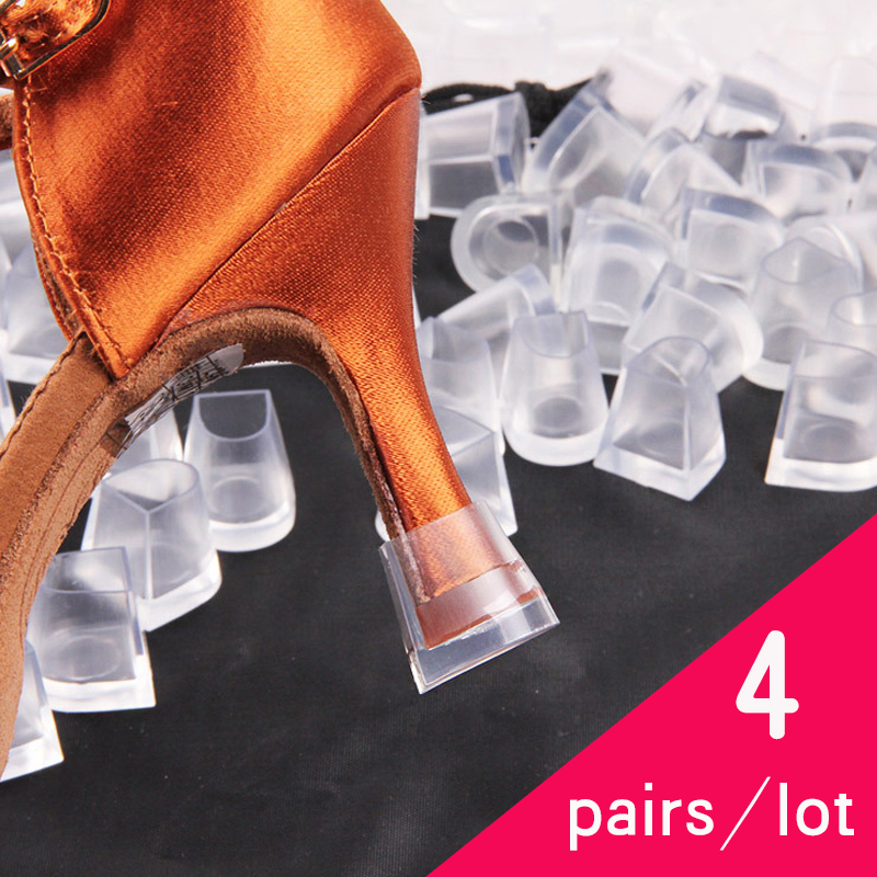 4 Pair/lot Heel Protectors High Heeler Antislip Silicone Heel Stopper Latin Stiletto Dancing Cover For Bridal Wedding Party 42