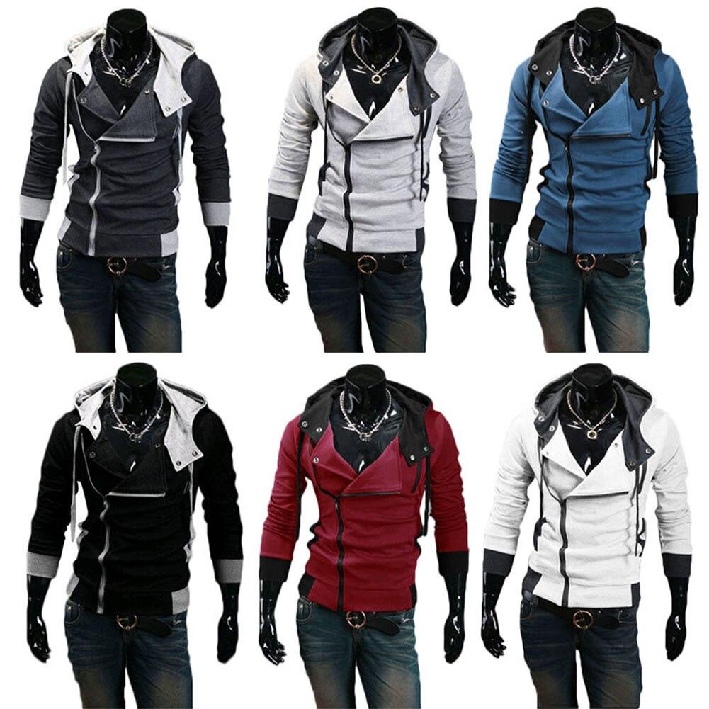 2019 Newly Hot Men Zip Up Hooded Sweatshirt Slim Fit Autumn Coat Tops Warm Outwear HD88 in Hoodies amp Sweatshirts from Men 39 s Clothing