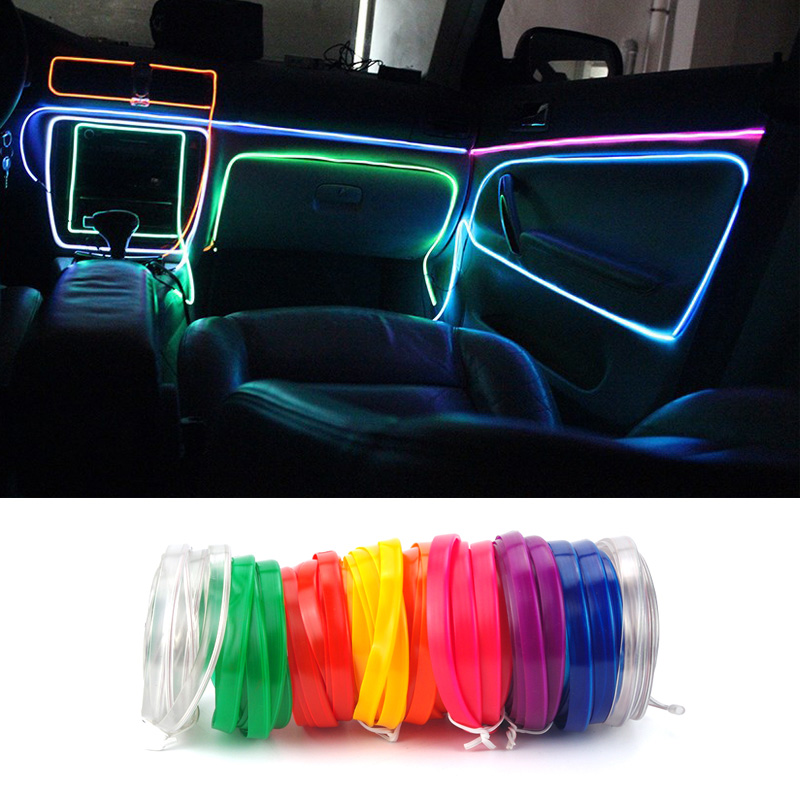krada el wire usb el light tape cold lights auto decorative lamps led light strip line for lada. Black Bedroom Furniture Sets. Home Design Ideas