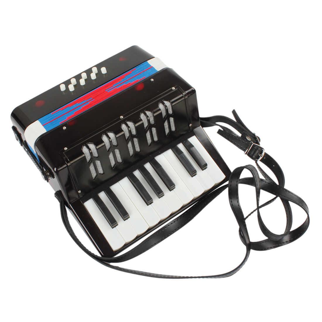 مصغرة 3 ألوان الخيار التعليمية آلة موسيقية 17-مفتاح 8 باس لعبة الأكورديون للأطفال الأطفال