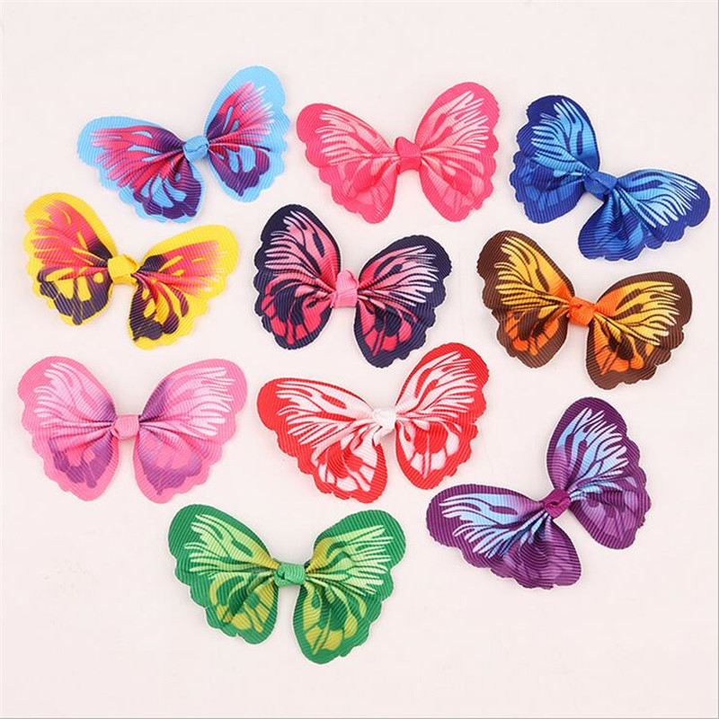 10pcs/lot creative ribbon butterfly knot connector for diy earrings brooch hairclip headwear jewelry making material accessories