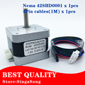 Nema 17 Stepper Motor bipolar 4 leads 34mm 12V 1.5 A 26Ncm(36.8oz.in) 3D printer motor 42SHD0001