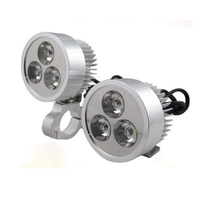 kongyide Healight Bulbs DC 12V 9W Motorcycle Electric Bicycle Car PMMA LED Head Light White NOV9