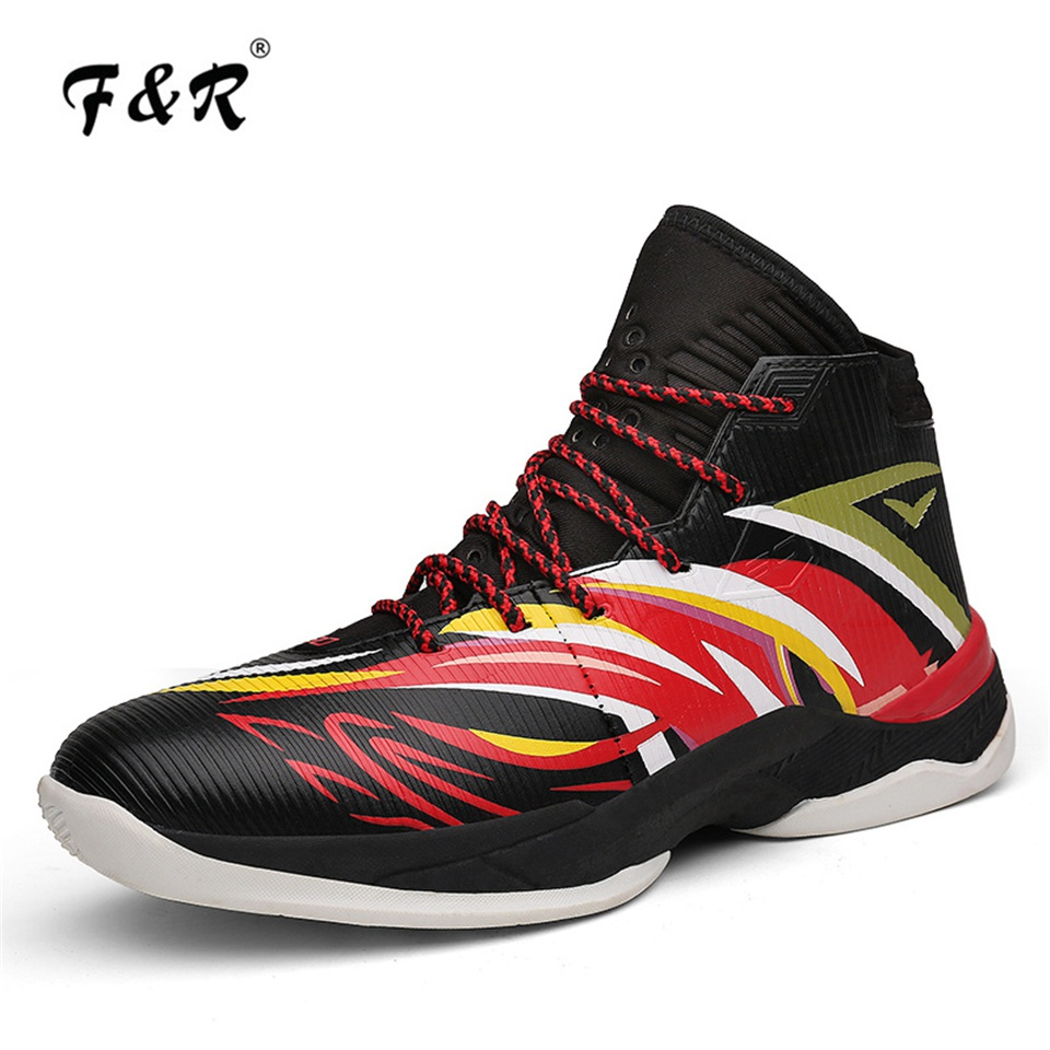 F&R Men Basketball Shoes Outdoor Cement Curry Damping Stephen Sports Sneakers High Top Monkey King Retro Jordan Trainers Shoes