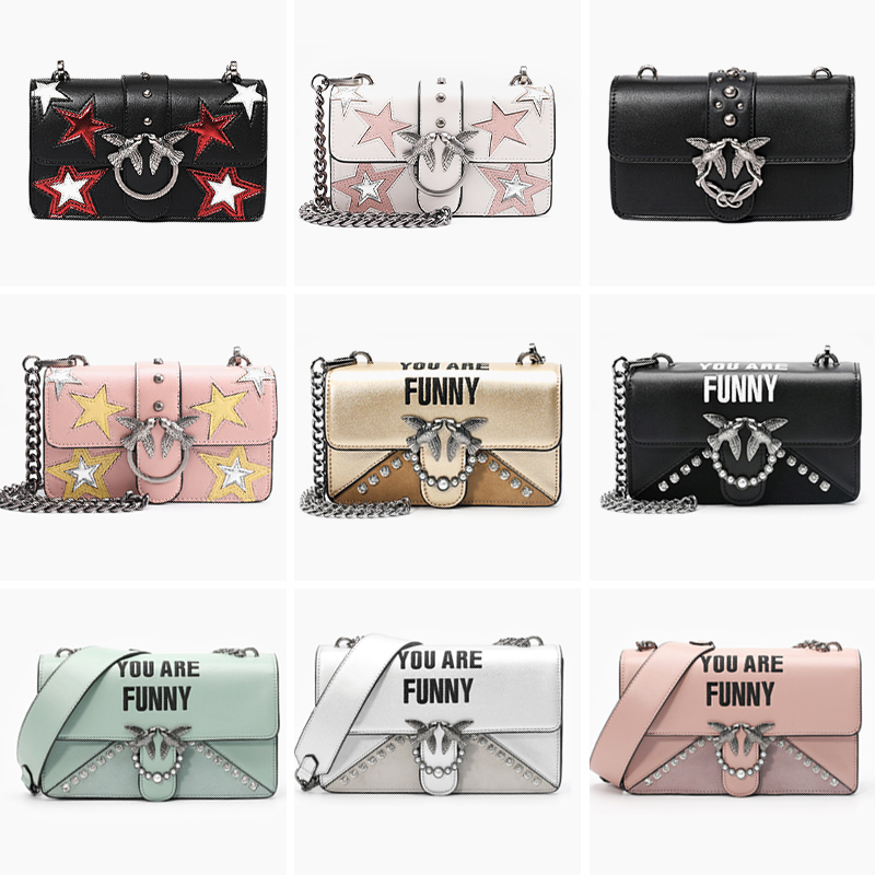 Famous Brand Swallow Bag Woman Lady Totes Star Patchwork Leather Handbag Women Messenger Bag Chic Chain Crossbody Bag Two Straps 1pc cute animal dinosaur pencil case canvas pencil bag pen box stationery school supplies multilayer gift random with lock