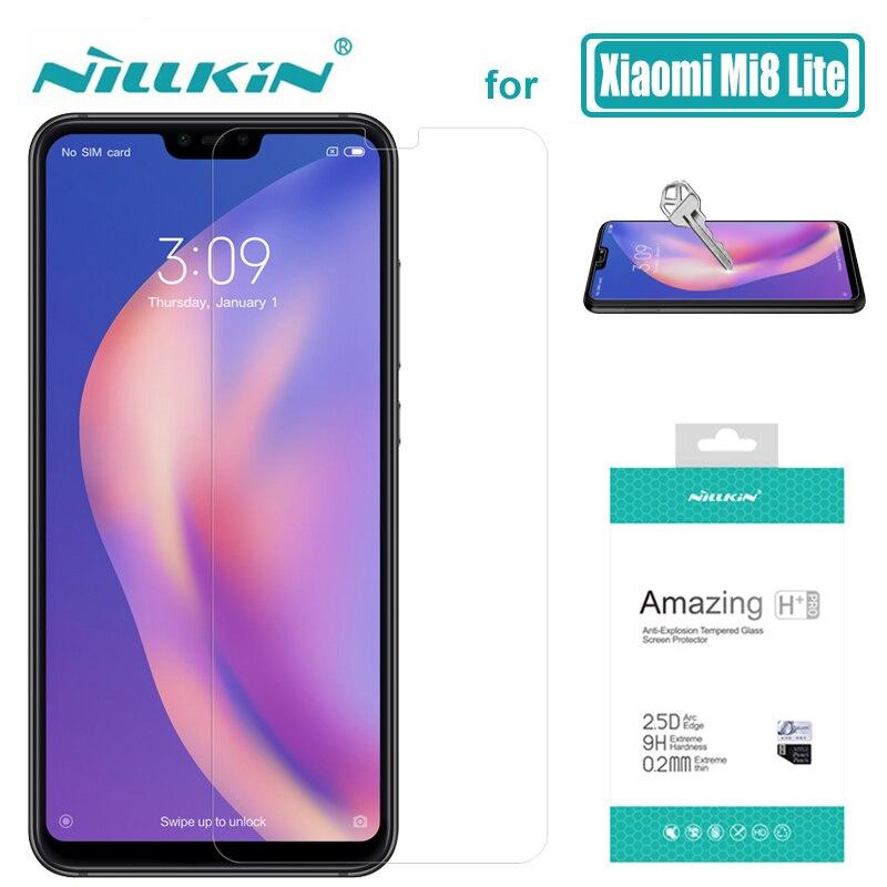 Cep telefonları ve Telekomünikasyon Ürünleri'ten Telefon Ekran Koruyucuları'de Xiao mi mi 9 mi 8 Lite mi 8 mi 6 mi 9T 9H Nillkin temperli cam ekran koruyucu H + Pro Xiao mi mi 9 mi 8 SE mi 6 9T Pro cam title=
