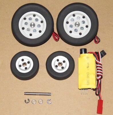 JP Hobby Brake wheel system 4mm axle shaft 50mm 55mm 60mm 65mm for RC plane DIY