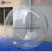 2m diameter inflatable water ball for adult customized color 1.0mm PVC high quality air human hamster ball zorb ball for sale