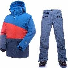 Saenshing лыжный костюм мужские непромокаемые термальные лыжные куртки + сноуборд брюки мужские Горные лыжи и Сноубординг зимний комплект