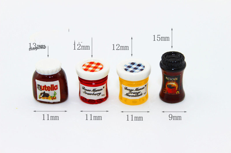 1:12 Dollhouse Miniature 4pcs Mini Coffee Jam Candy Food Toy Match For Forest Animal Family Collectible Gift 2019