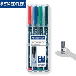 Image 5 - Ponto fino 0.6mm caneta marcador permanente de staedtler 318 wp4 lumocolor canetas universais pintura escrita para cd papel madeira multiuso