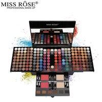 Miss roseプロフェッショナルアイメイク180色マット&シマーアイシャドウパレットフルカラーアイシャドウキッ
