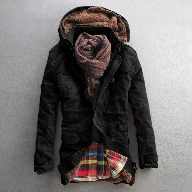 탑 겨울 망 패션 모피 후드 겨울 두꺼운 면화 패딩 자 켓 양 양모 외 투 벨벳 따뜻한 코트 남성 크기 M-5xl