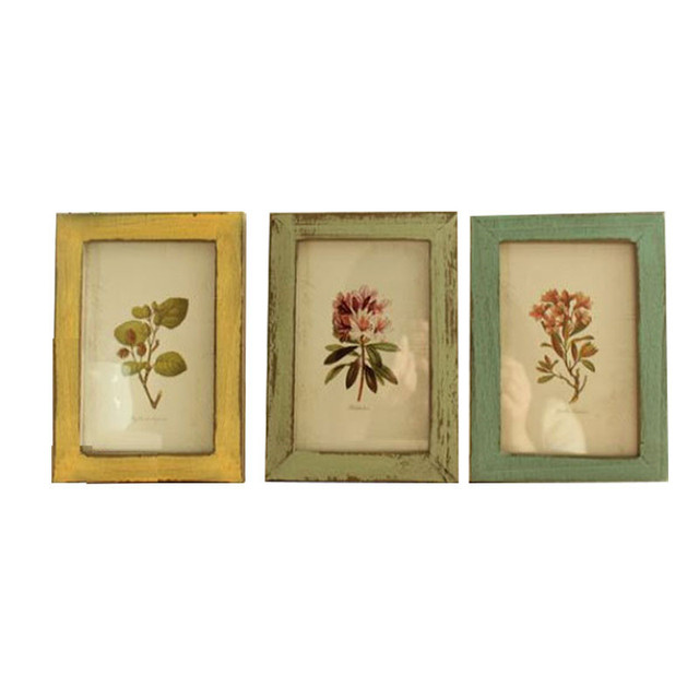 DIY Picture Frame Household Decor Wood Photoes Frame Wall Hang Retro ...