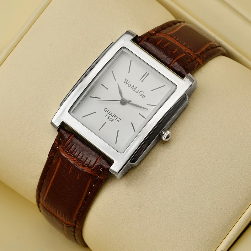 Men Watches Top Brand Luxury Womage Watch Men Leather Watches Clock relogio masculino montre homme saat erkek kol saati montre brown leather strap men quartz watch mens watches top brand luxury erkek kol saati horloge montre homme clock megir hodinky b190