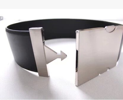 Forma original de couro largo de prata fivela de cinto para as mulheres Exagero Qualidade Liga Fivela mulheres Cinto Largo acessórios