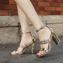 9e190a9f Nuevas Sandalias de tacón alto Mujer verano hueco abierto del dedo del pie  crudo tacón cruz romana Correa zapatos de tacón alto .