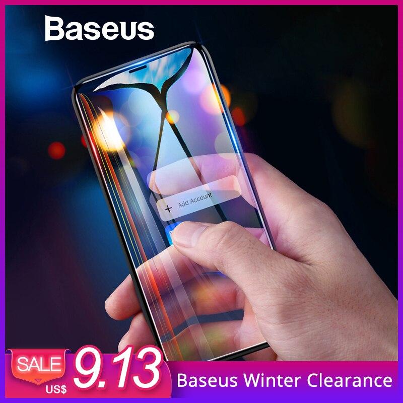 Baseus Anti espía Protector de pantalla para iPhone Xs Max XR 2018 la cobertura completa de vidrio templado para iPhone Xs max protectora de vidrio