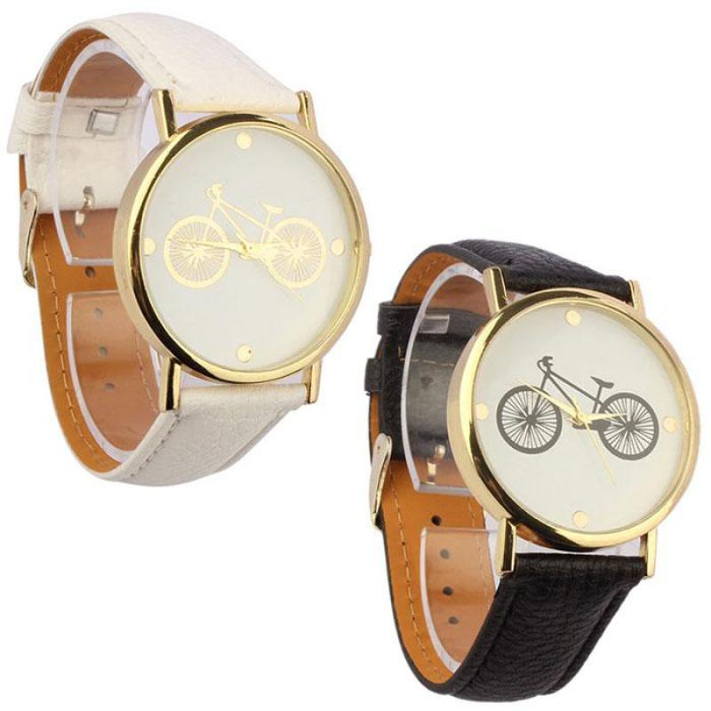 Couples Watch Gifts Bicycle-Pattern Mens Sport-Clock Women's Ladies New Fashion Quartz