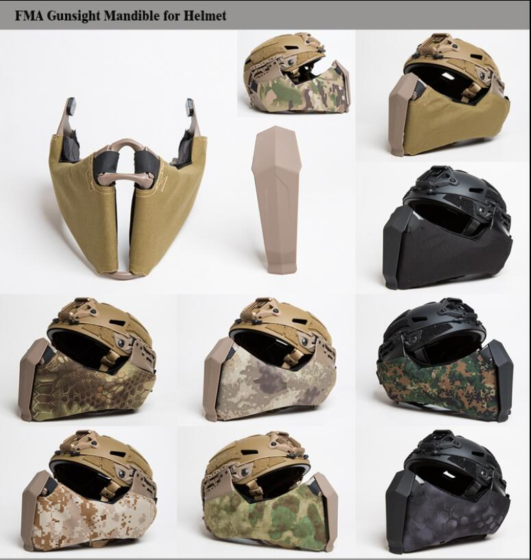 FMA helmet face mask FAST helmet guide special face guard TB1304-in Helmets from Sports & Entertainment    1
