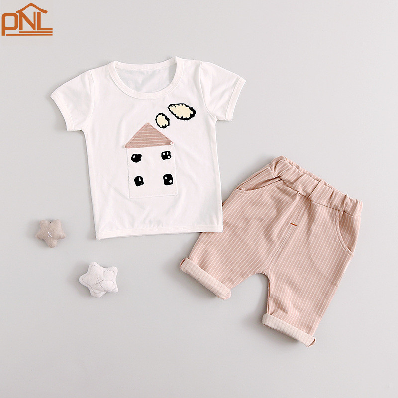 Summer Baby Girls Suits kids Clothes Sets children T Shirt Pants 2 Pcs Sets Children