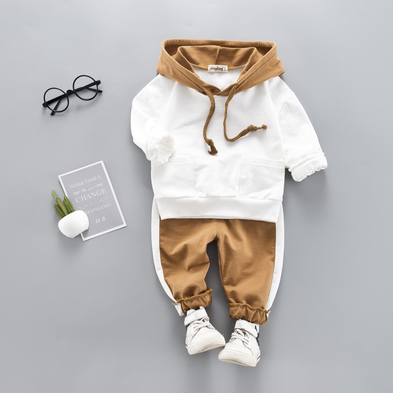 Toddler Baby Boy Hooded Casual Clothing Set Sweatshirt Long Sleeve Autumn Boys Kids Outfits Tracksuit Suits Children Clothes(China)