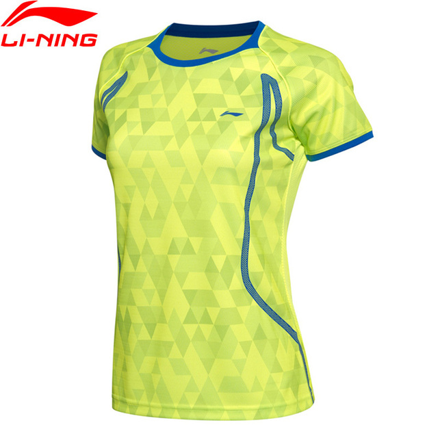 42718d51 Li-Ning Women AT DRY Badminton Shirts Breathable Light T-Shirts Quick Dry Polyester  Sports Tee AAYM002 WTS1335