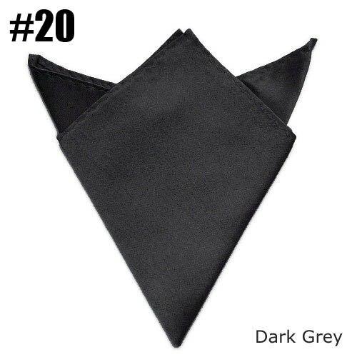Handkerchief Mens Ladies Satin Pocket Square Dark Gray 24 Colors For  Choose Wholesale