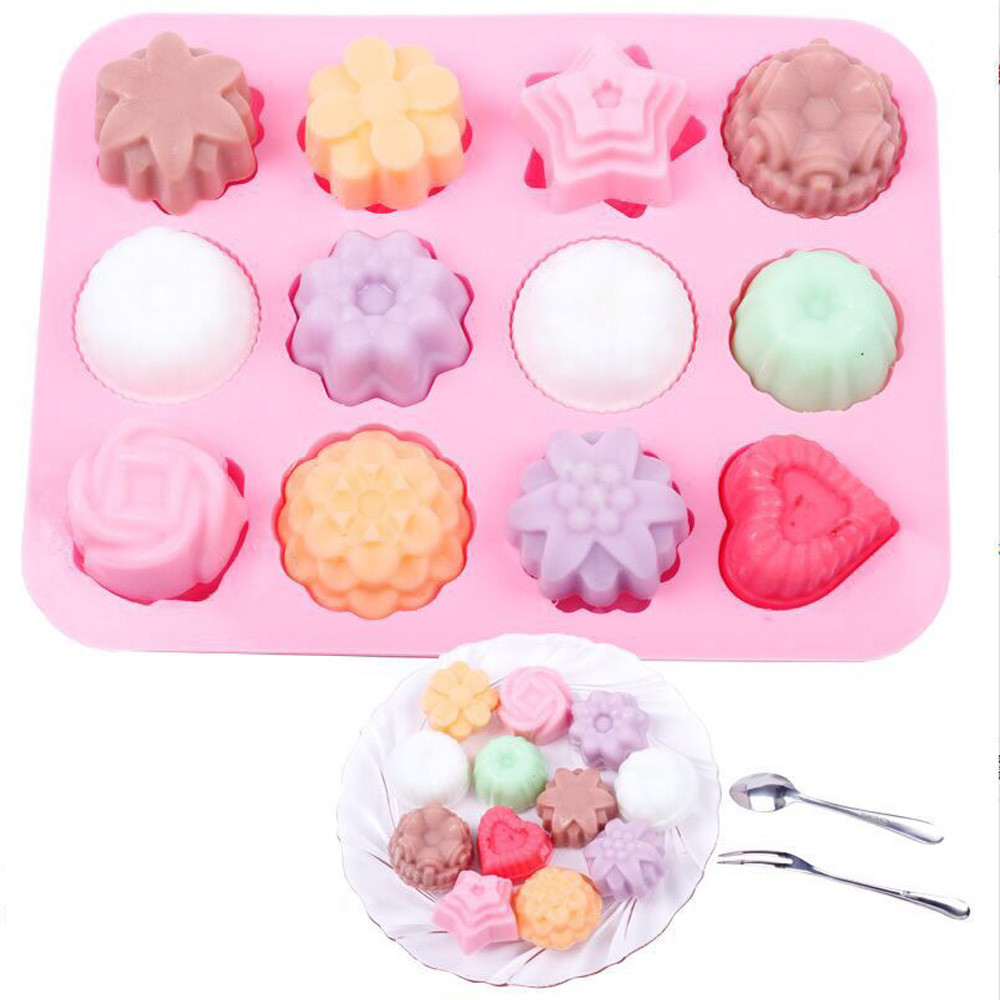 3D Silicone for Soap Cupcake Cake Mold Round Shape Cake Pan Bread Chocolate Making Mold Bakeware DIY Baking Tools #616 ...