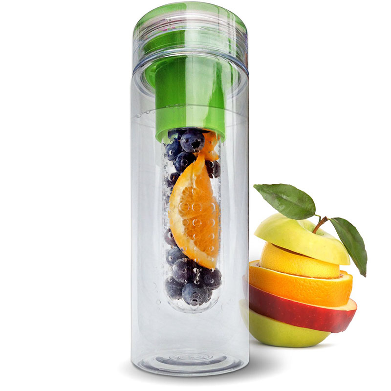 CE/EU Fruit Infusing watter bottle Lemon Juice Maker 800ml cap Fruit Infuser bike travel school BPA Sports Health kettle