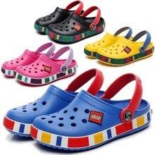 Новая летняя модная детская обувь Cave для мальчиков и девочек уличные тапочки детские пляжные вьетнамки дышащий светильник тапки для малыша