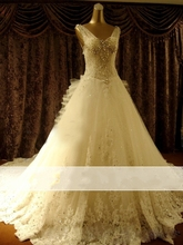 Vestido de novia 2017 Vintage Sexy Luxury Lace Wedding Dress Beading Bridal Gown