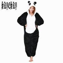 2015 kigurumi Flannel Pajamas Panda Pajama Cartoon Animal Costume Adult Panda Costume Sleepwear Cute Pajama Onesie Top Quality
