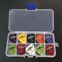 30 guitar picks 1 box case Alice acoustic electric bass pic plectrum mediator guitarra musical instrument thickness mix 0.58-1.5