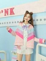 Принцесса Милая куртка Лолита осень зима сладкий Состаренный Яркий шелковый стикер кролик письмо вышивка и замша куртка VC202