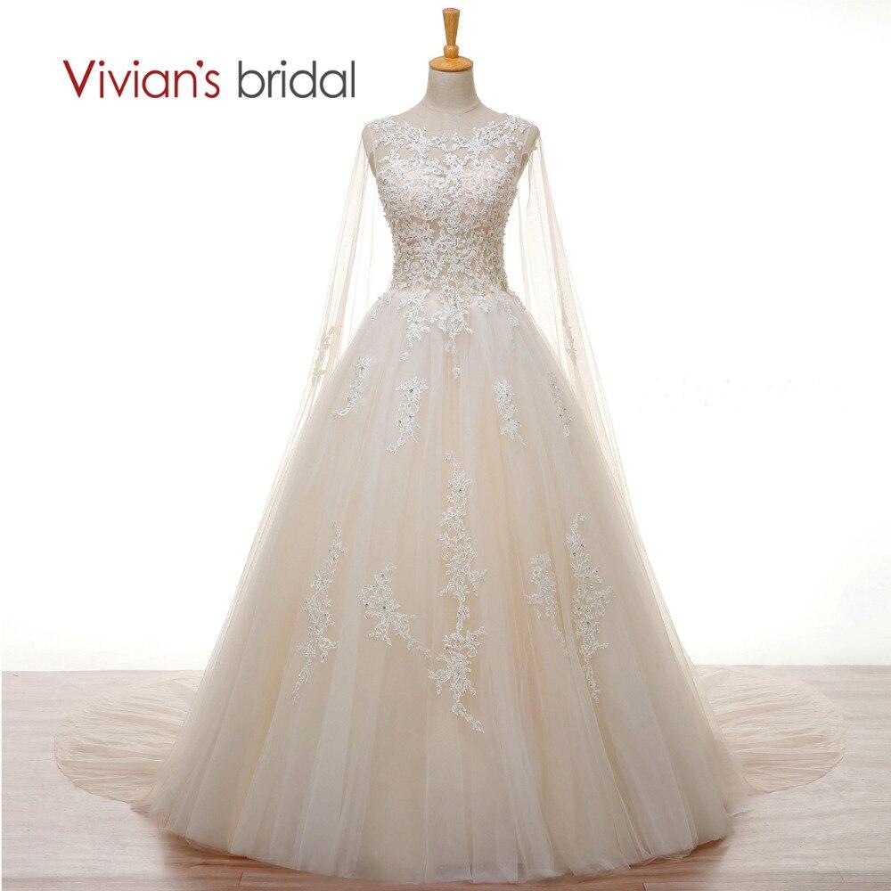 Vivian der Braut Kristall Perle Weißer Spitze Champagner Hochzeit ...