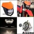 Universal Motorrad Dirt Bike H4 Scheinwerfer Verkleidung Off Road Motocross 35W Scheinwerfer Für KTM MX XCF XC SX SXF enduro Leuchtturm| |   -