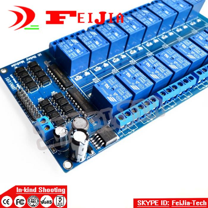 3PCS New 12V 16 Channel Relay Module for Ard uino DSP AVR PIC ARM UNO MEGA 2560 R3 ATMEL ATMEGA 1280 (Blue) Free Shipping